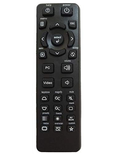 AIDITIYMI Remote Control Replace for INFOCUS Projector IN112 IN114 IN116 IN122 IN124 IN126 IN2124 IN2126 IN2124A IN2126A IN122A IN126A IN124A IN112A IN114A IN116A IN112AT IN114AT IN118HDA IN2128HDA