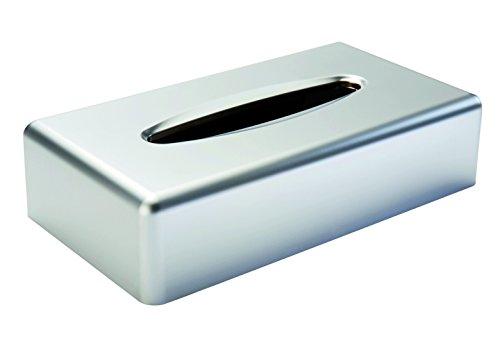 Gerson 5159CM Boite à Mouchoir rectangulaire, ABS/Acrylonitrile/Butadiène/Styrène, Chromé Mat, 25,2 x 13,8 x 6,2 cm
