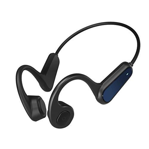 Auricolare Bluetooth a Conduzione Ossea, Auricolare Bluetooth Wireless con Microfono Integrato, Auricolare Sportivo a Prova di Sudore, Supporto per l'interazione Vocale AI (Nero)
