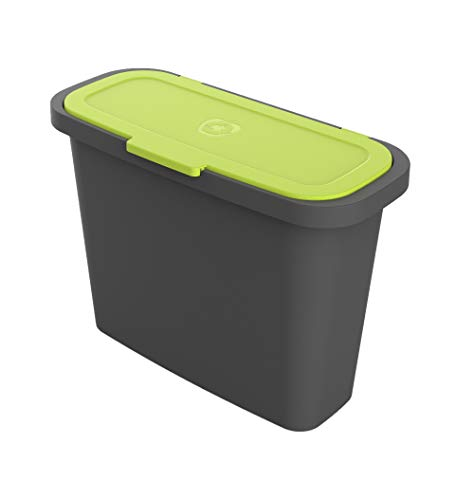 Best Price RSI MC-C9 2.4 Gallon Compost Bin, Black and Green