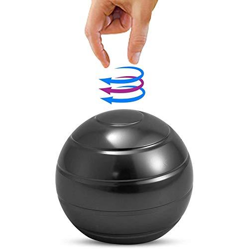 Cestbon Kinetic Schreibtischspielzeug Kinetisches Spielzeug 45Mm Metall Kinetic Ball Schreibtisch Spinner Stressabbau,Schwarz