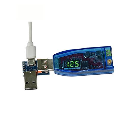 Módulo electrónico Verde Luz 5V a 12V 24V Elevación de la tensión de pantalla USB Módulo 1-24V ajustable 3W de escritorio 5pcs fuente de alimentación Equipo electrónico de alta precisión