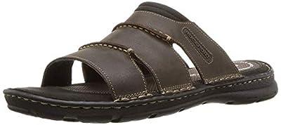 Rockport Men's Darwyn Slide Sandal, Brown Ii Leather, 13 W US