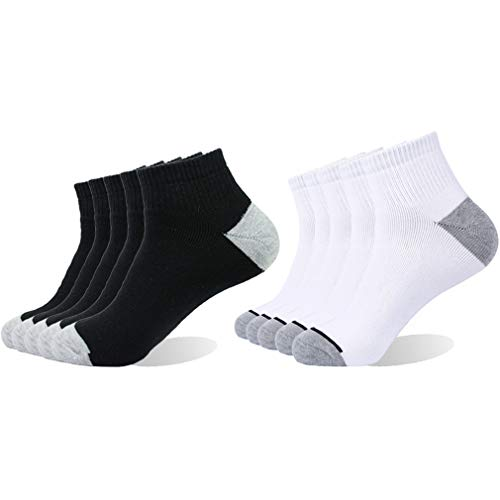Enerwear 10P Pack Men's Cotton Moisture Wicking Extra Heavy Cushion Low Cut Socks … (10-13/Shoe: 6-12, Mix Color)
