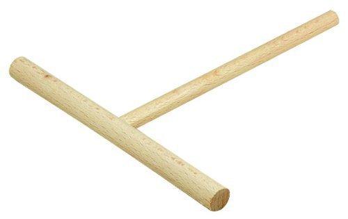 5x Crepes-Verteiler aus Holz, 20,5 cm, hitzebeständiger Crepesverteiler aus Ahorn, verhindert Kratzer in der Pfanne & Heizplatte, langlebiger Teig-Verteiler in T-Form, auch zum Pfannkuchen-Teig verteilen, robustes Zubehör für Galettes oder Crepes Maker aus Europa (5 Stück)