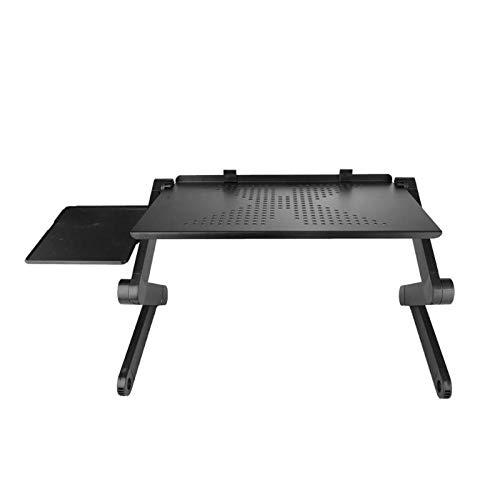 Knewss Klappbarer Laptop-Tisch Verstellbarer Bett-Laptop-Schreibtisch mit Lüfter für Ultrabook NetbookLaptop-Schreibtisch neben dem Schlafsofa-mit Lüfter
