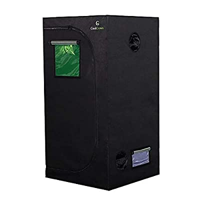 """CoolGrows Grow Tent Room with Viewing Window for Indoor Plant Growing Dismountable Reflective Mylar Hydroponic System (32""""x 32""""x 64"""")"""