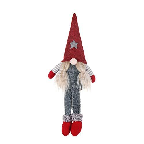 Dasongff schwedische Wichtel Santa Dolls süße Weihnachten Tomte Nisse Figur aus Weihnachtsfigur Dwarf schöneren Weihnachts Deko für Home Schaufenster Kinder Geburtstag Weihnachten (P, 1 PC)
