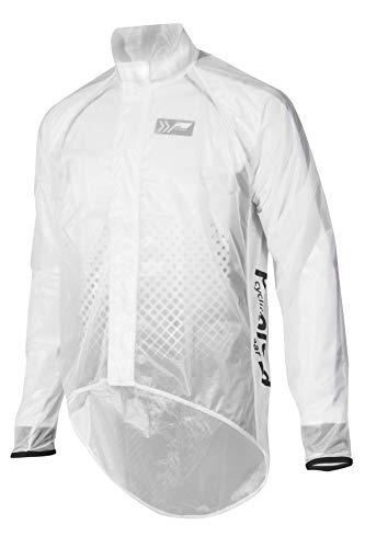 prolog cycling wear Transparente Fahrrad Regenjacke Oversized, Regenjacke zum Überziehen über Normale Radjacken, wasserdicht, atmungsaktiv, Unisex-Schnitt für Damen, Herren, Kinder