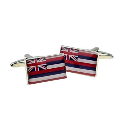 Hawaii US State Vlag Manchetknopen met geschenkdoos & verzonden vanuit het Verenigd Koninkrijk