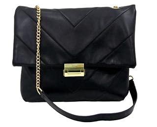 Bolso acolchado de cuero sintético grande para mujer, con cadena y correa de poliuretano, bolsos, bolsos, bolsos de hombro, moda, fiesta, ocasión, estilo diario