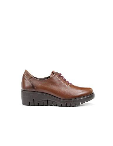 Fluchos | Zapato de Mujer | Manny F0698 Sugar Cuero Zapato | Zapato de Piel de Vacuno de Primera Calidad | Cierre con Elásticos | Piso Ligero de Goma EVA dotado de la tecnología Shock Absorber