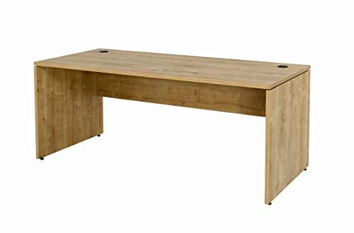Furni24 Schreibtisch Computertisch Homeoffice-Tisch Mehrzwecktisch Schreibtisch Nuvi 180 cm x 80 cm x 75 cm Saphir Eiche