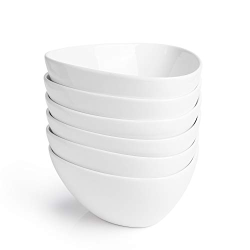 Sweese 115.001 Müslischalen 6er Set aus Porzellan, Füllmenge 500 ml, Müslischüssel, Müsli Schale, Dessertschale, Snackschale, Eisschale, Schüssel