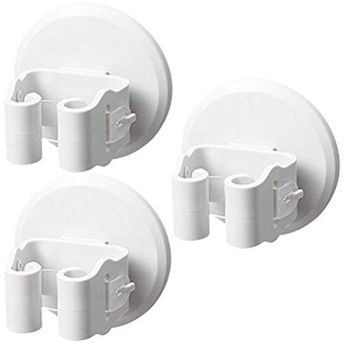 Ruiyoupin Premium gereedschaphouders, hoogwaardige bezemhouder, wandhouder, optimale opslag van huishoudelijke apparaten, tuingereedschap, 3 wit.