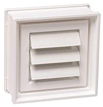 PITTSBURGH Glass Block Co 8 in. x 8 in. x 3 in. Dryer Vent for Glass Block Windows