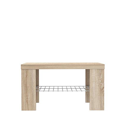 FORTE Calpe Sitzbank, Holz, sonoma eiche, 69 x 34.79 x 38.9 cm