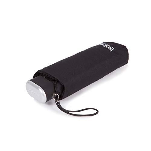isontoner paraguas–plegables accesorios–ultra-slim plana apertura manual–Mini Negro
