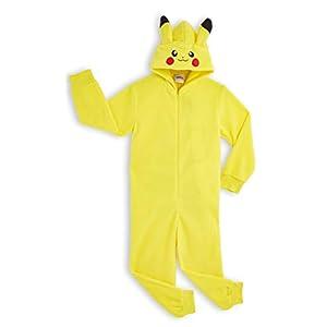 Pokèmon Pikachu Pijama Entero para Niños Niñas De Una Pieza, Cosplay, Pijama Animal Disfraz Go Capucha,Ropa de Dormir…