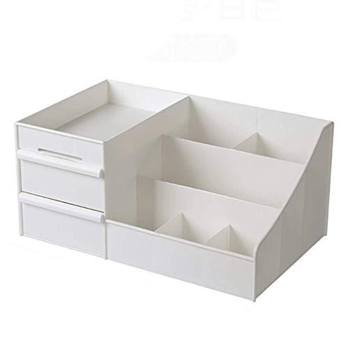 ZTMN Boîte de Rangement cosmétique en Plastique Bureau Petit tiroir Produits de Soins de la Peau vitrine de Stockage de Bijoux (Couleur: Blanc, Taille: 35 * 21,5 * 16 cm)