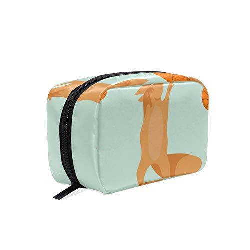LORONA Speelse Eekhoorns Patroon Cosmetische Pouch Koppeling Make-up Bag Travel Organizer Case Toilettas voor Vrouwen