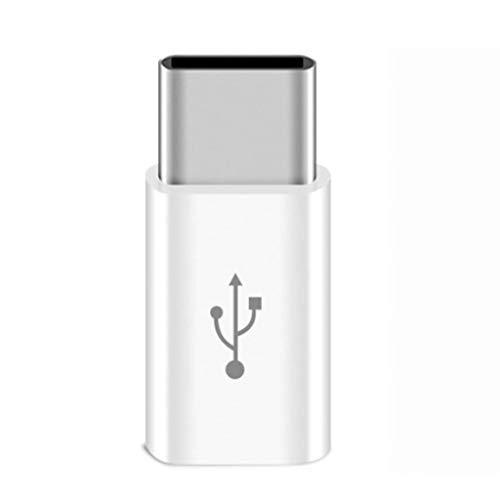 JJZXD Adaptador de teléfono móvil Micro USB a Adaptador USB C, conversor de Cable de Carga Blanco, Adaptador Tipo USB C