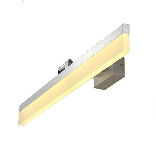 Espejo retrovisor LED Espejo de baño con luz de espejo Espejos de baño simples Tocador de baño Tocador Tocador Tocador Lámpara Espejo único Delicado (Color : Silver/white)