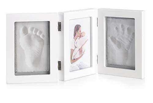 Jané Marco de Fotos para Huella de Mano Bebé y Fotografía, Incluye Arcilla de Modelado, Secado en 24 Horas