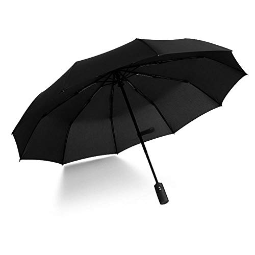 Llxxx paraplu-Tien bot automatische opvouwbare paraplu vrouwelijke mannelijke winddichte paraplu mannelijke regen zwarte verf
