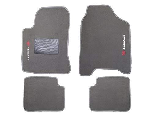 Kit Tapete Carpete Toyota Corolla 2003 Até 2008 Cinza