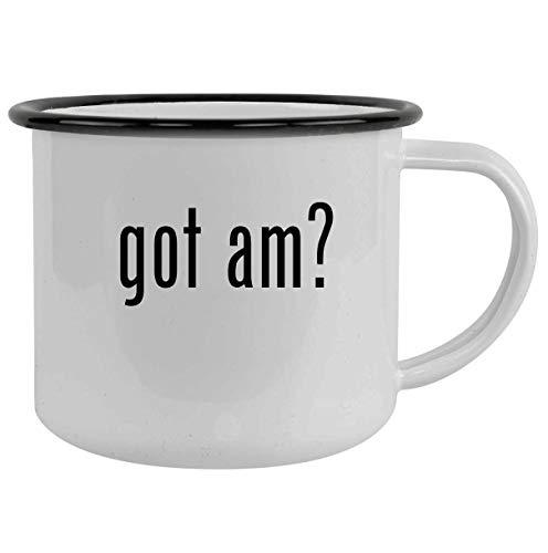 got am? - 12oz Camping Mug Stainless Steel, Black