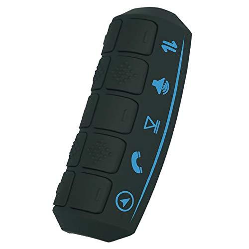 Nrpfell BotóN del Volante Radio de Coche Reproductor de DVD GPS RetroiluminacióN LCD Controles Remotos Universales para AutomóViles Controlador InaláMbrico