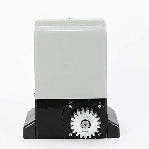 RDFlame - Motor eléctrico para puerta corredera con 2 mandos a distancia y accesorios (550 W, 12000 N)