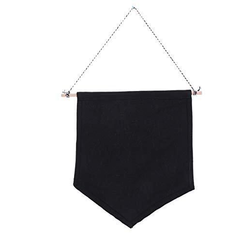 LIOOBO - Lote de 2 alfileres expositores de Pared, diseño de Bandera de Bavero, Color Negro, Talla M