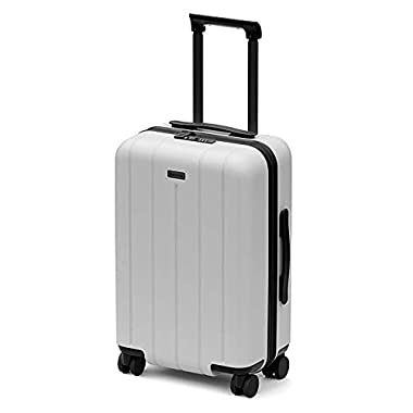 CHESTER Minima Carry-On Luggage / 22 x19 x14  Lightweight Polycarbonate Hardshell/Spinner Suitcase/TSA Approved Cabin Size (Snow (White), Carry-On Luggage)