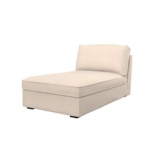 Soferia Funda de Repuesto para IKEA KIVIK chaiselongue, Tela Softi Beige, Beige