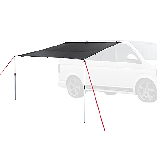 Qeedo Motor Tarp Bus Sonnensegel mit Keder, UV80 Schutz & Dark-Coating, Campingbus, Wohnwagen, Bus Markise