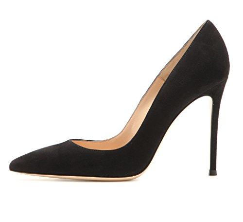 EDEFS Klassische Damen Pumps   Moderne Damen High Heels   Stiletto Schuhe   Damen Geschlossene Pumps Schwarz Größe EU35
