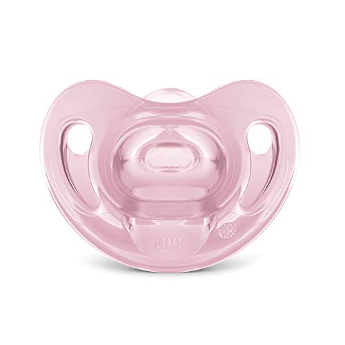 Chupeta Sensitive Soft 100% Silicone Girl S1 - NUK, Rosa, Tam 1 (0-6 meses)