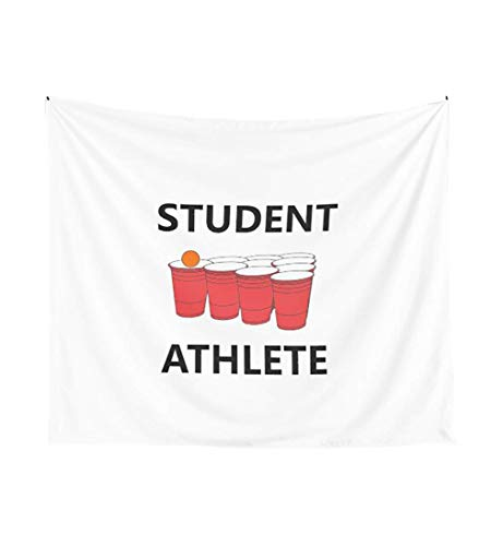 Funny Student Athlete Beer Pong Shirt Drinking Drunk Drink A_l_c_o_h_o_l Welcome Claw Shit Show College Student School University Party Frat Gift Tapestry