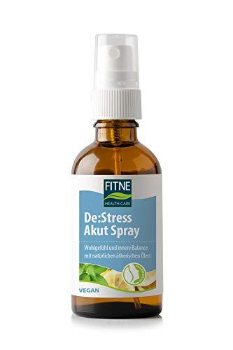 FITNE De:Stress Akut Spray, beruhigende Aromatherapie mit Bergamotte, Basilikum und Zeder, natürliche ätherische Öle, vegan (30 ml)