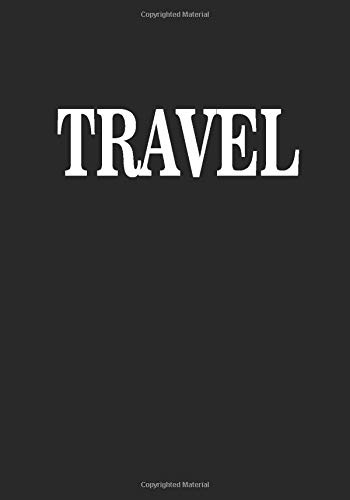 Travel: A Black cover with white lettering decorative book for coffee tables, living room, bookshelves and interior design styling, Stack decor books ... Birthday Holiday gift for adults, women, men
