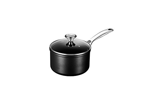 Le Creuset TNS1200-16 Toughened NonStick Saucepan with Lid, 2-Quart