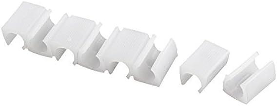 DealMux Plastic ronde U-vormige stoel voetvloer glijdt pijpdoppen beschermer 8 stuks wit