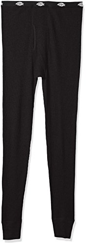 Dickies Men's Big Classic Thermal Waffle Pant, Black, X-Large/Tall