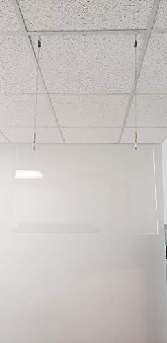 Hanging Protective Shield, Sneeze Guard, Barrier, Ceiling Hung Screen 15' x 24'