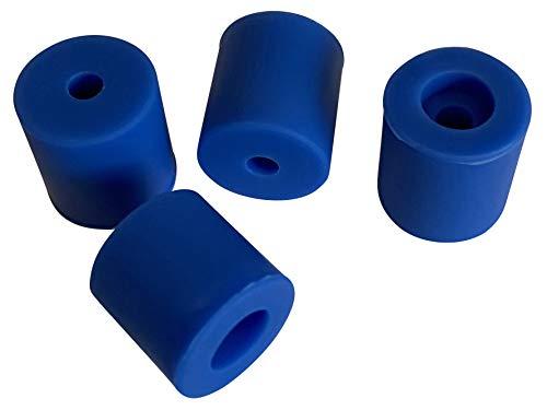 3DPLady | Silikonpuffer (Silikondämpfer) für 3D Drucker 1x16mm + 3x18mm Zubehör für Ender 3 Serie V2,Pro (Blau)