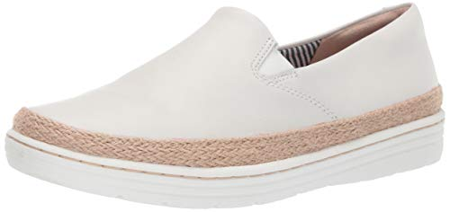 Clarks Womens Marie Pearl Loafer, white leather 100 M US