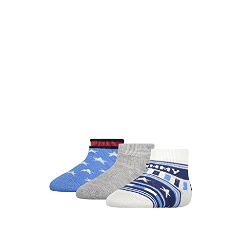 Tommy Hilfiger Unisex-Baby Stars and Stripes Gift Box Classic Sock, Blue Combo, 15/18