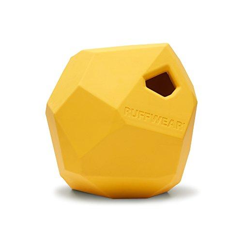 Ruffwear Kaufestes Hundespielzeug aus Gummi, Futter und Leckerli Aufbewahrung, One Size, Gelb (Dandelion Yellow), Gnawt-a-Rock